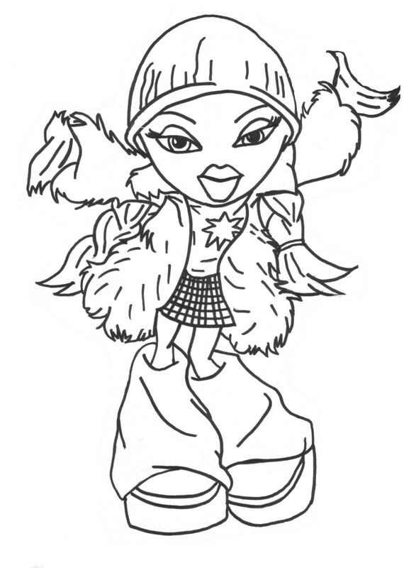 bratz coloring pages 2. Bratz dolls coloring pages for kids  printable free Coloring Pinterest Dolls Free and Face paintings