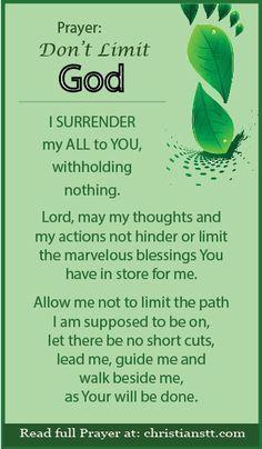 Prayer: Do Not Limit God - The Power Of Effective Prayer - ChristiansTT