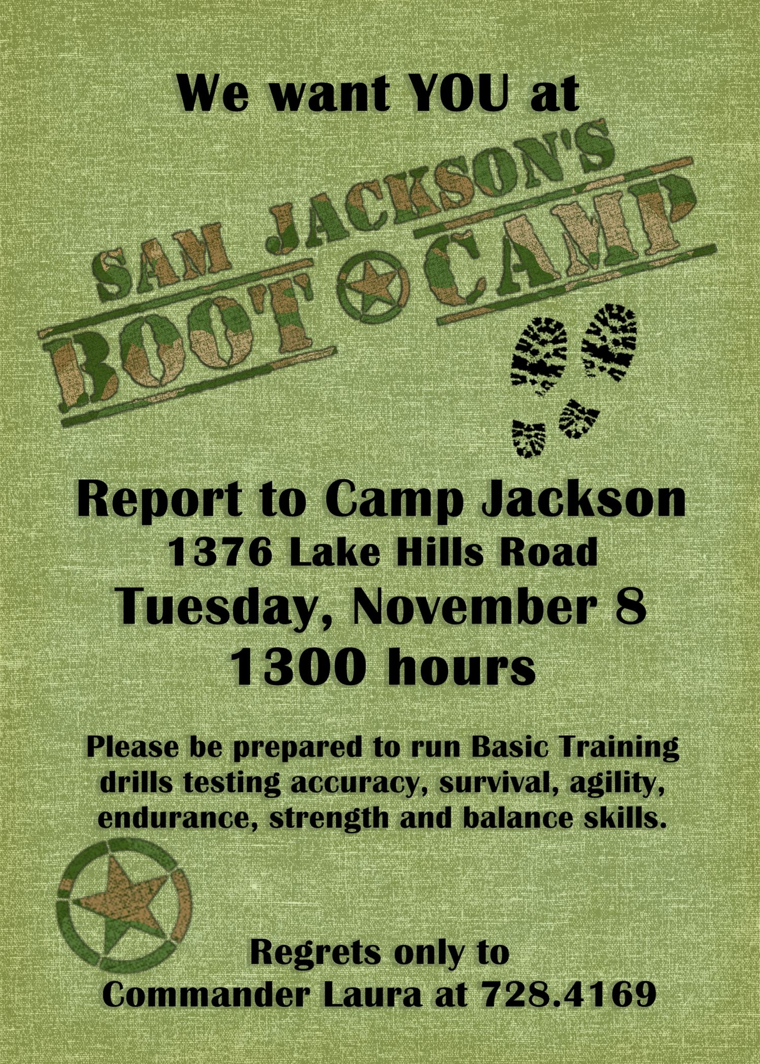 Boot Camp Party Invitation Wdwdesigns Camping Parties