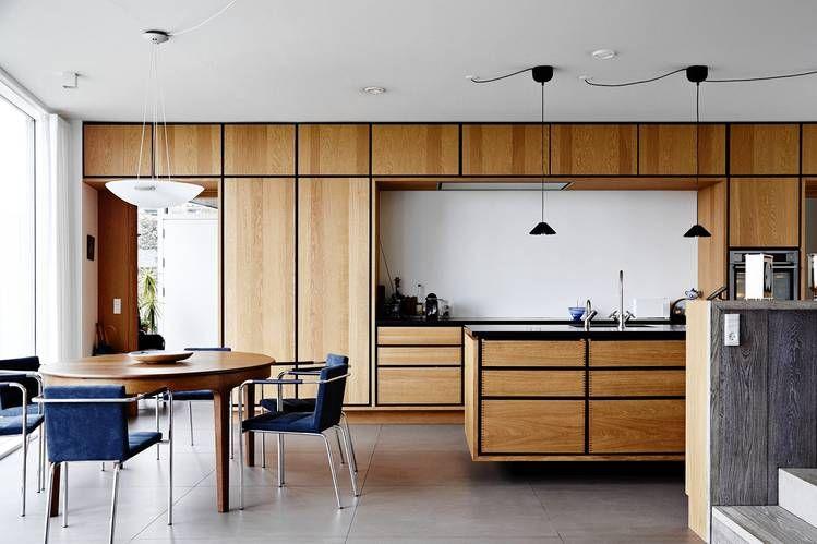 This bespoke kitchen designed by Copenhagen's Garde Hvalsøe incorporates natural oak.
