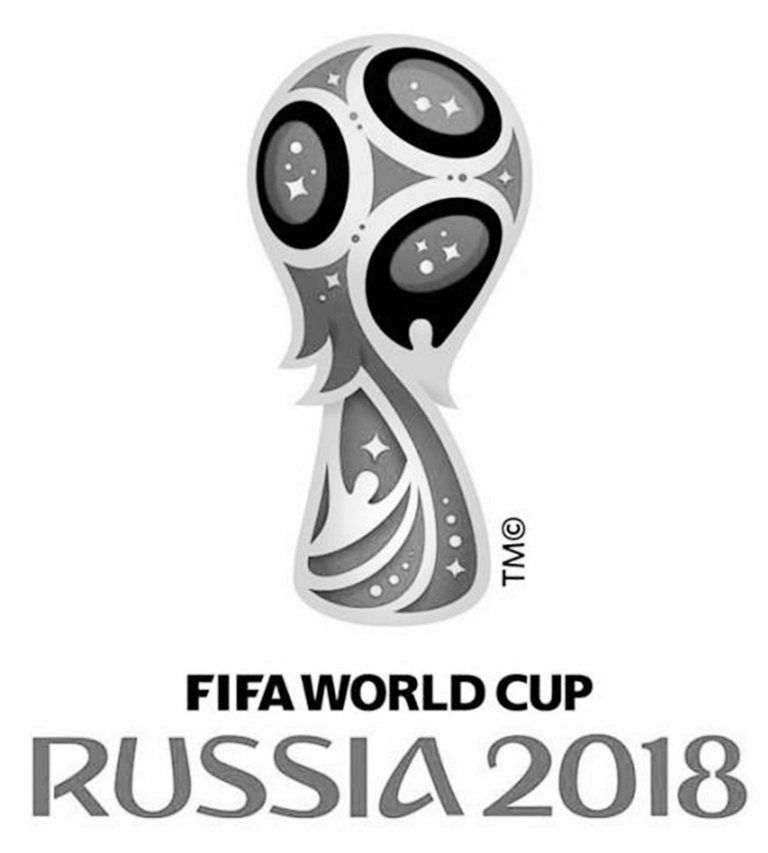World Cup Russia 2018 Lineart Black And White World Cup Russia 2018 World Cup Black And White