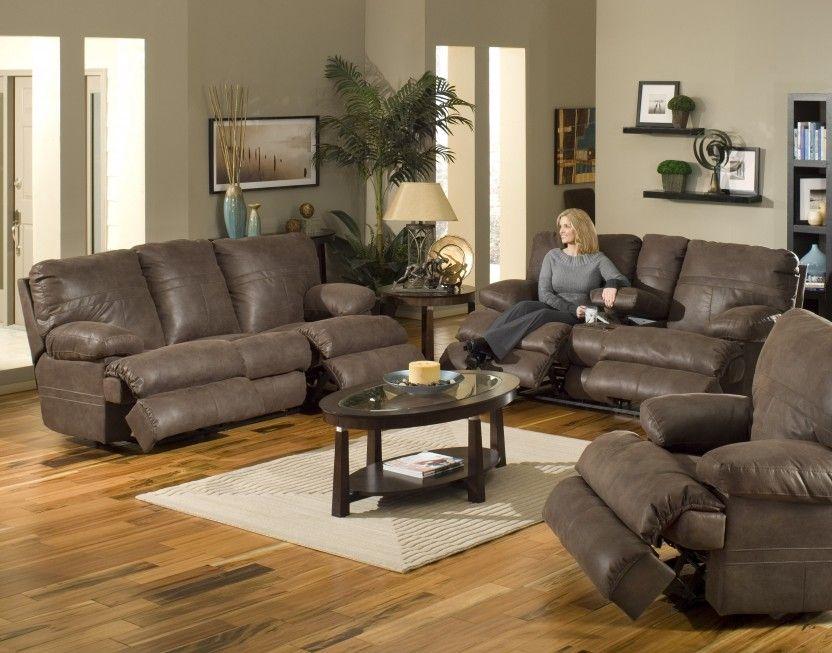 catnapper ranger 379 sofa loveseat recliner in chocolate - Catnapper Recliners