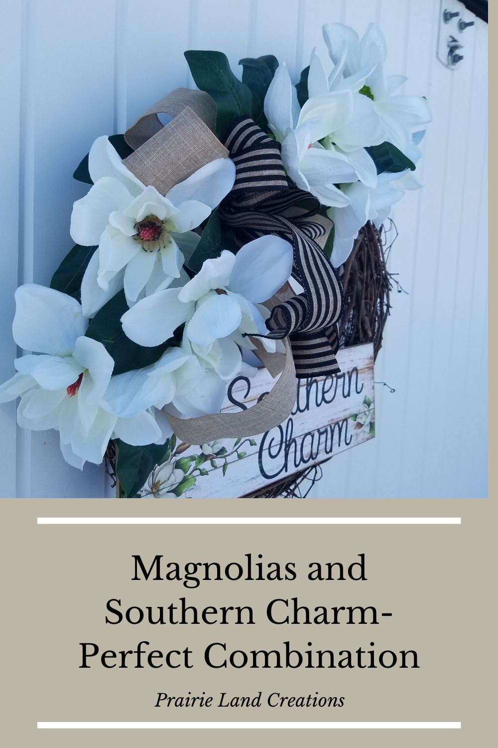 Photo of Magnolia wreath, summer wreath, Mother's Day gift, southern charm front door wreath, Home Sweet Magn