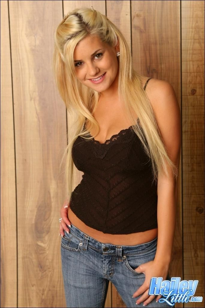 Petite cutie hailey little shows her wild side on the bang bus bb15830