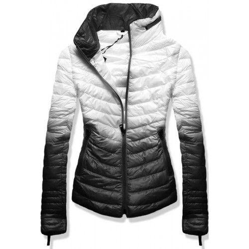 7f3af8bb46f2 Dámská jarní podzimní bunda Eria černá – černá – módně prošívaná dámská  bunda – ozdobné