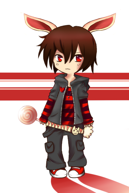 Emo Bunny Boy chibi, cute, adorable, kawaii, emo scene