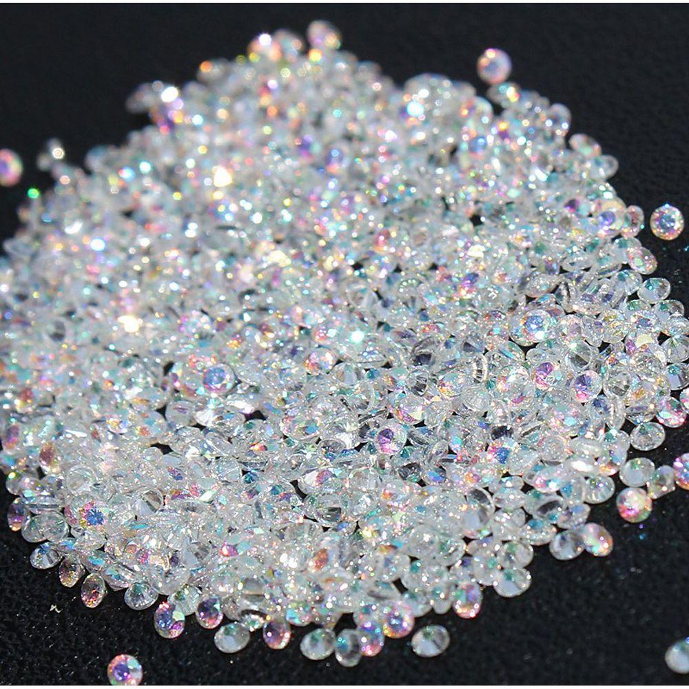 New 1400pcs Micro Diamond Diy Nails Rhinestones Crystal Flat Back Non Hotfix Rhinestones Stickers Need Glue Na Diy Rhinestone Nail Art Rhinestones Diy Crystals