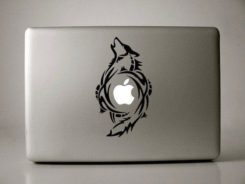 wolf laptop decal