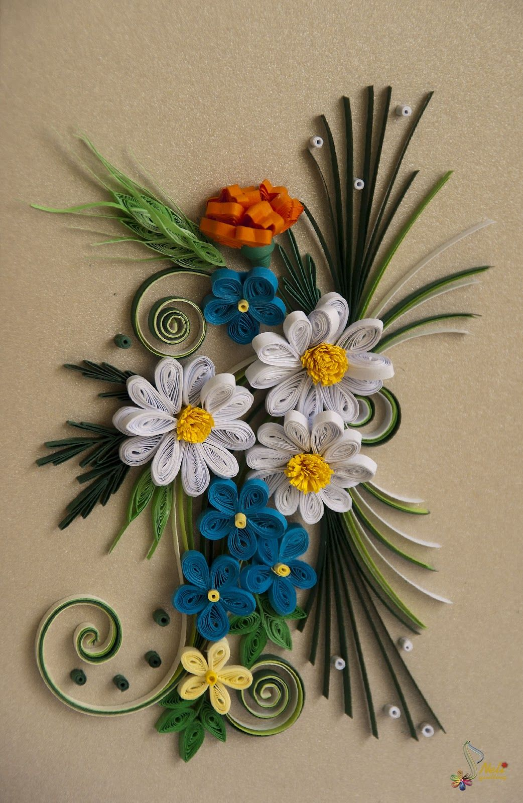 Neli quilling cards quilled flowers 2 pinterest neli for Quilling designs