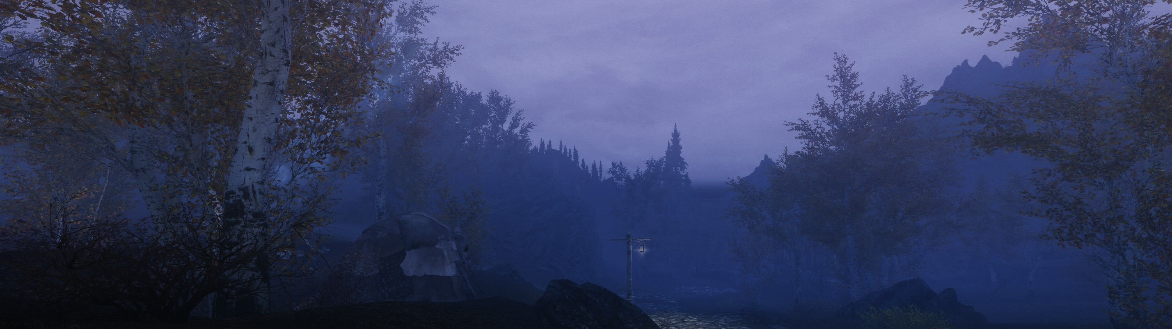 Here Are Some Dual Monitor Screens S I Took In Skyrim This Morning 3840x1080 Hd Wallpaper From Gallsource Com