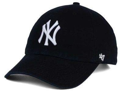 New York Yankees 47 Mlb Black White 47 Clean Up Cap