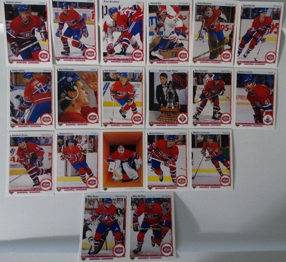 199091 upper deck ud montreal canadiens team set of 19