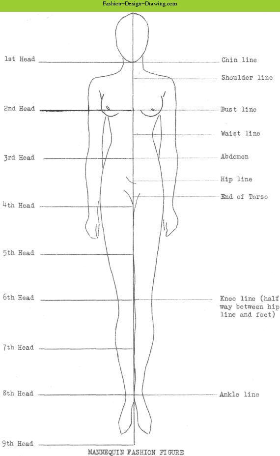 Fashion Design Drawing Mannequin Fashion Figure
