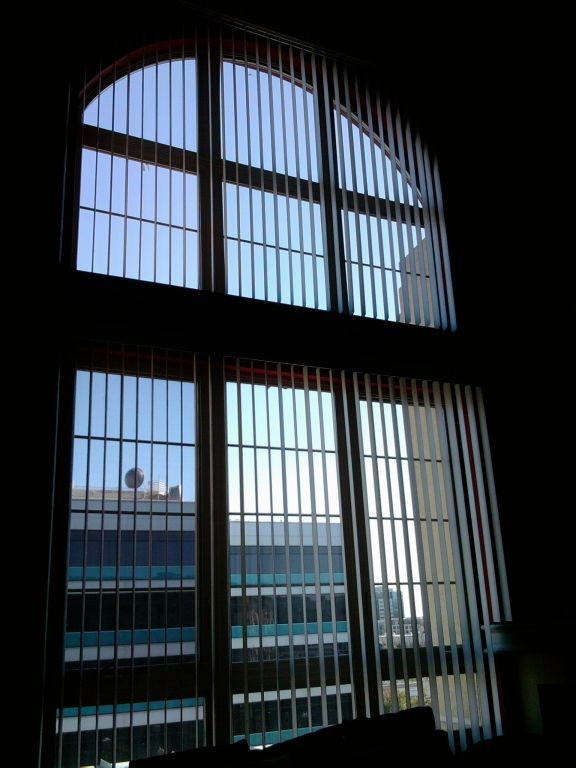 Vertical Blinds Over Large Arched Window Window Blinds