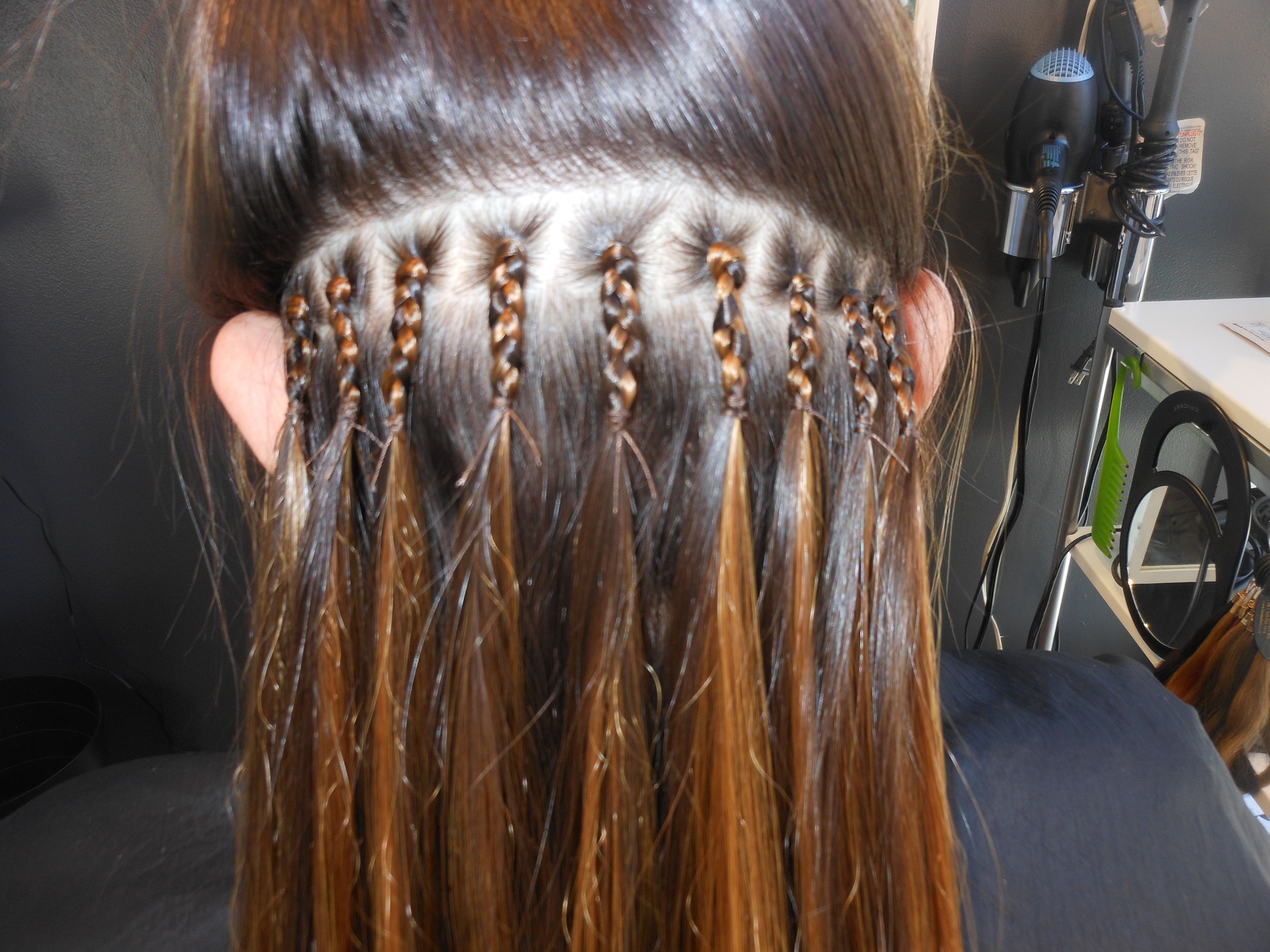 pinch braids for fullness | Extensions | Braided ...
