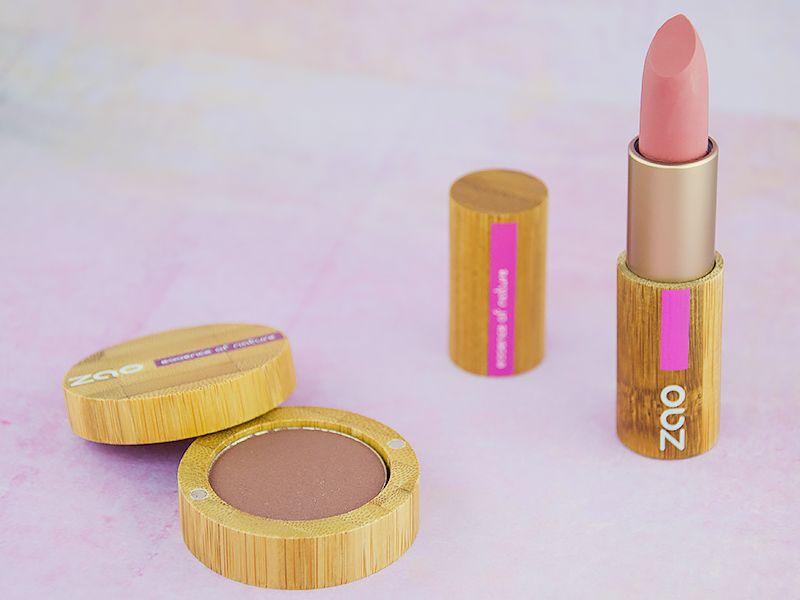 Fard à paupières nacré et rouge à lèvres mat bio , Zao MakeUp blog beauté  blogbeauté beauty beautyblogger bblogger maquillage makeup bio  vegan