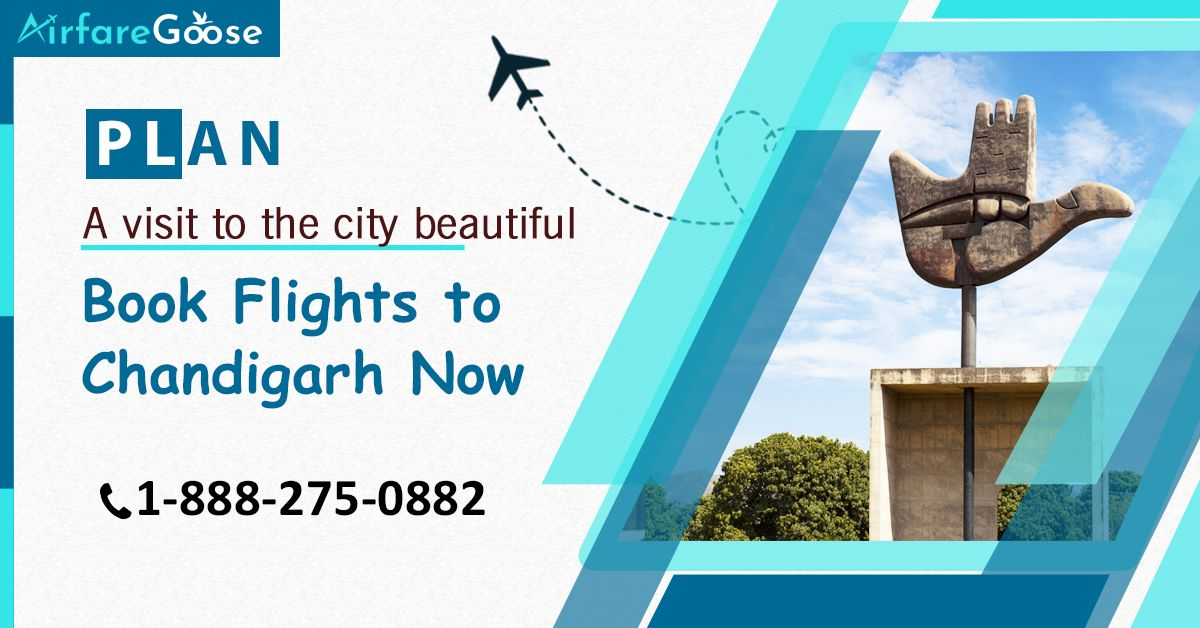 Looking for cheap airfare to #Chandigarh? Find the cheapest travel deals to Chandigarh with #Airfaregoose and save more.  For more information, call us at -1-888-275-0882 (Toll-Free).  #traveltochandigarh #CheapFlightDeals #USAtoIndiaFlights #Traveloffers #Tourists #Attractions #Destinations #visitchandigarh #beautifulcity #incredibleindia #BookCheapFlightTickets #FlightBookingOnline