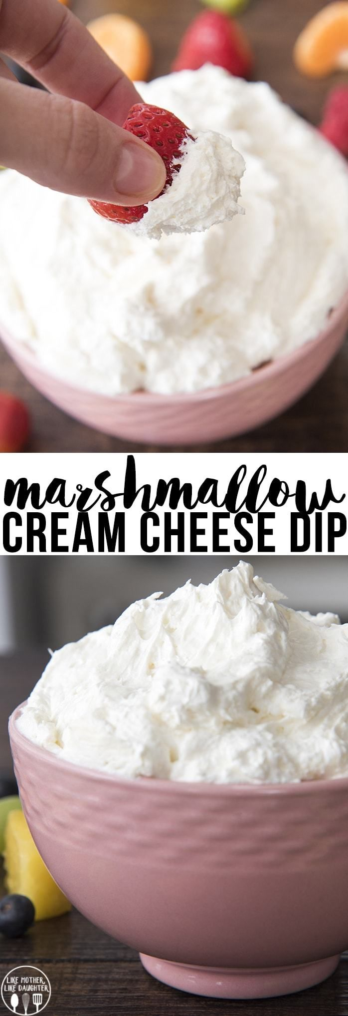Marshmallow Cream Cheese Fruit Dip #marshmallow