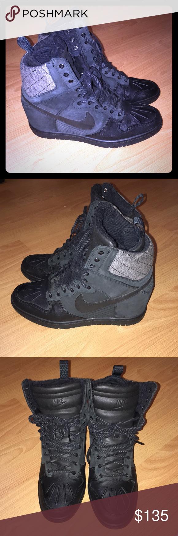 La Edición Especial De Zapato Nike Dunk Sky Hi Zapato De De Cuña Acordonado Y Cuñas 0f9384