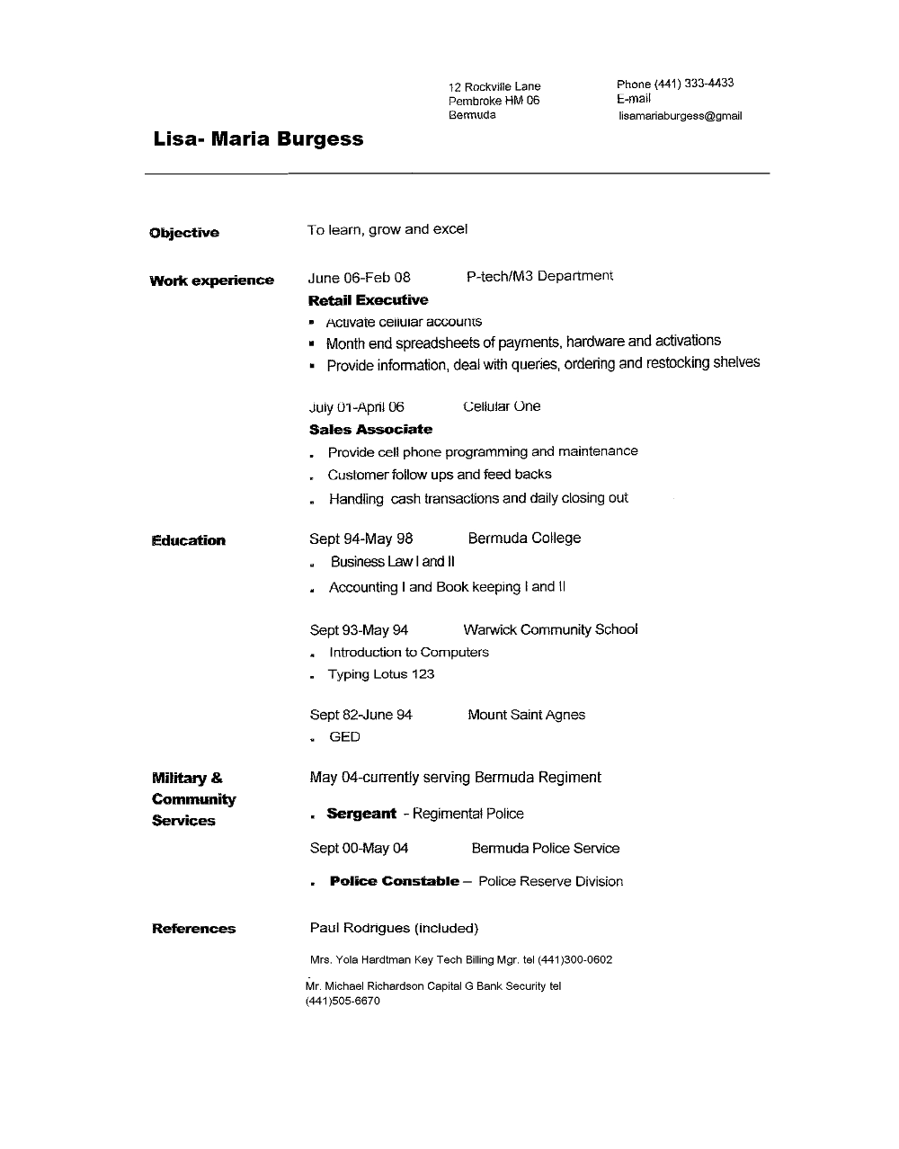Resume Templates Copy And Paste 8 Templates Example Templates Example Job Resume Template Basic Resume Job Resume Format