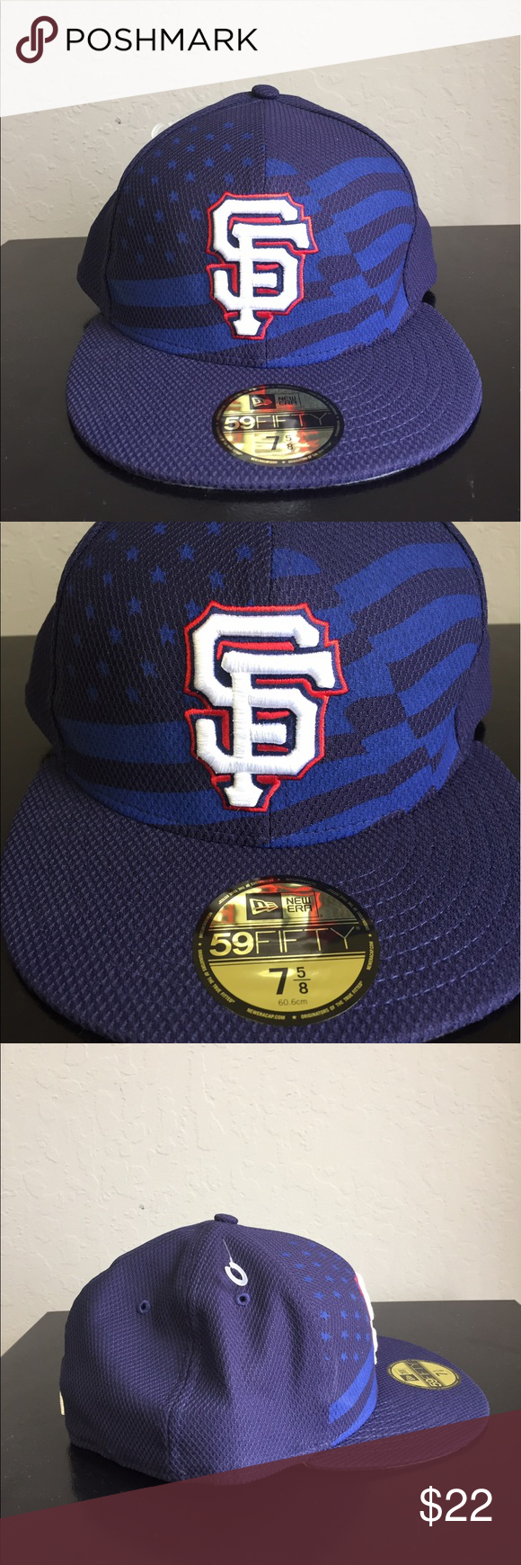 separation shoes 16cb4 d4ba2 NewEra 59Fifty 4th of July SF Giants Hat 7 5 8 San Francisco Giants New