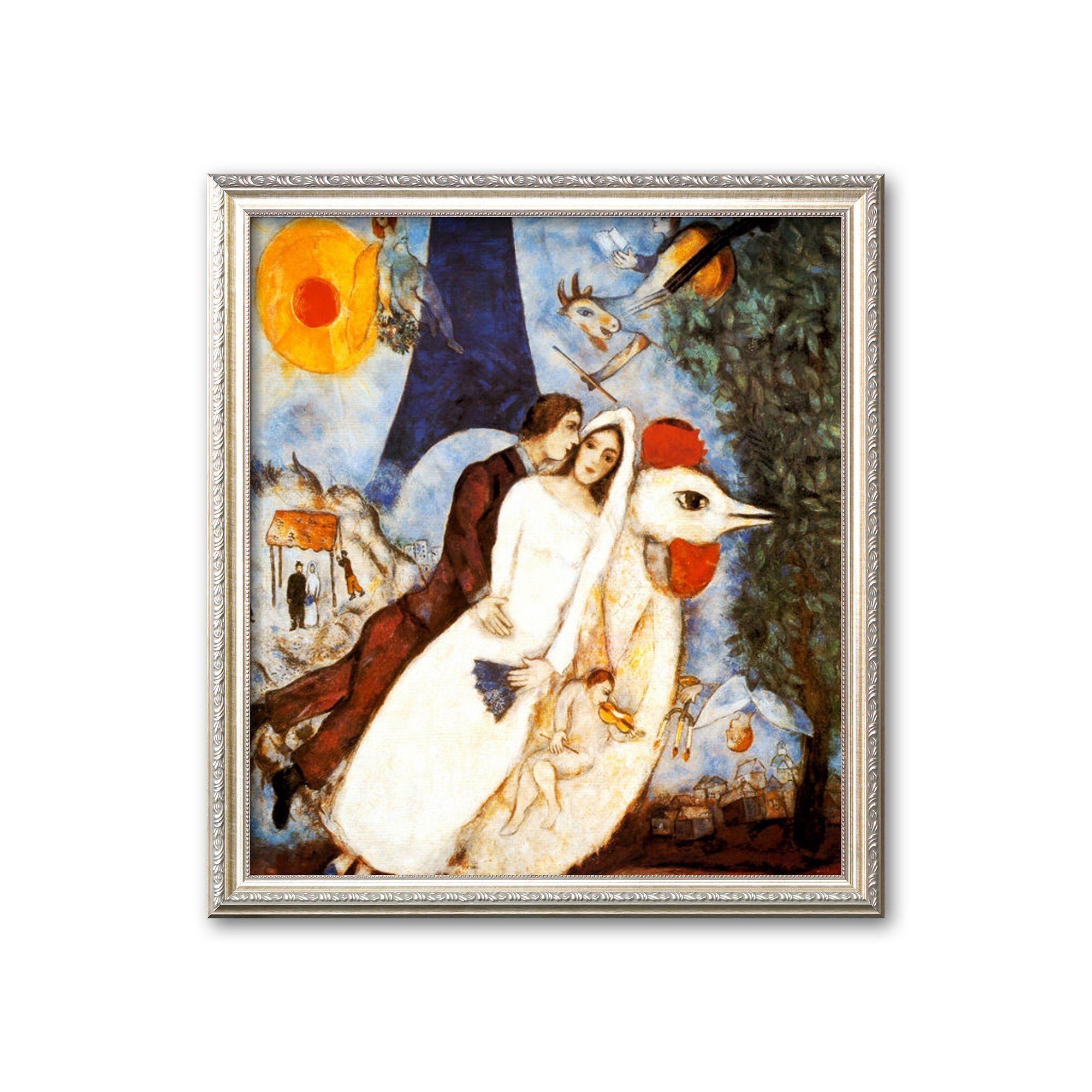 Art.com Les Fiancees de la Tour Eiffel Framed Art Print by Marc Chagall