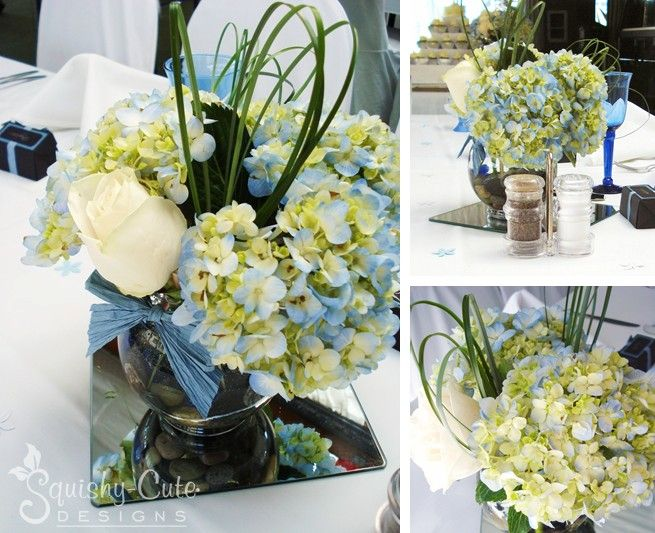 Wedding centerpiece ideas hydrangea bouquet squishy
