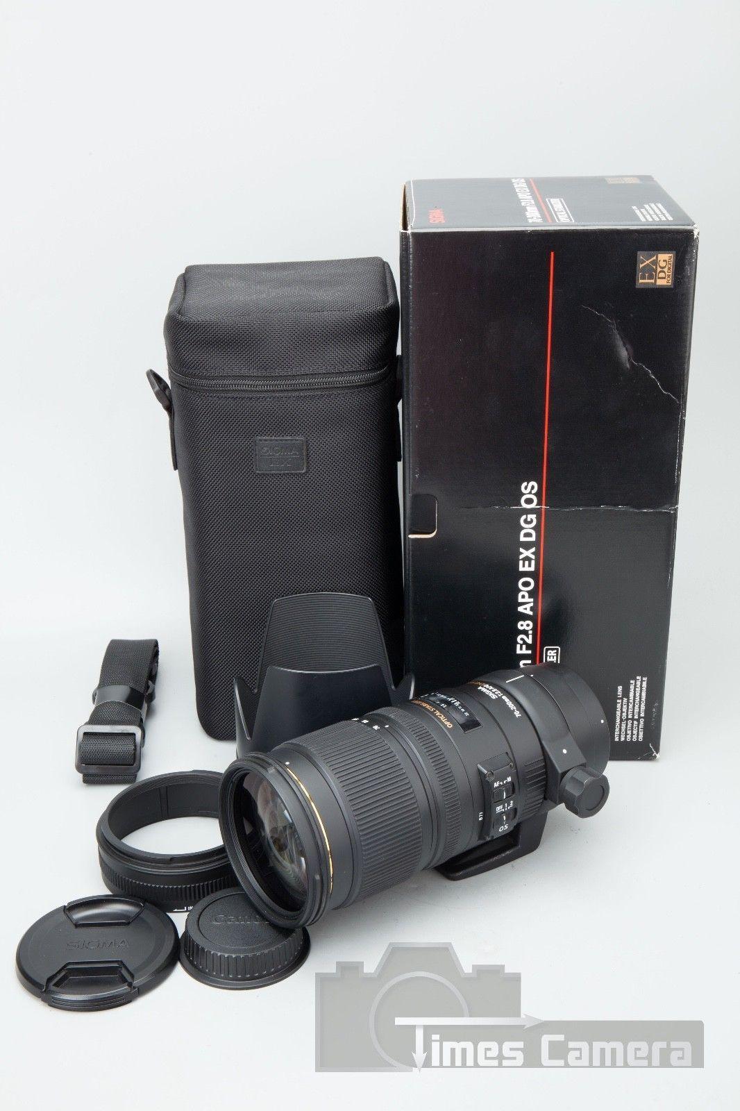 Sigma Ex 70 200mm F 28 Apo Dg Hsm Lens For Canon Ef Mount Af Nikon 24 70mm If