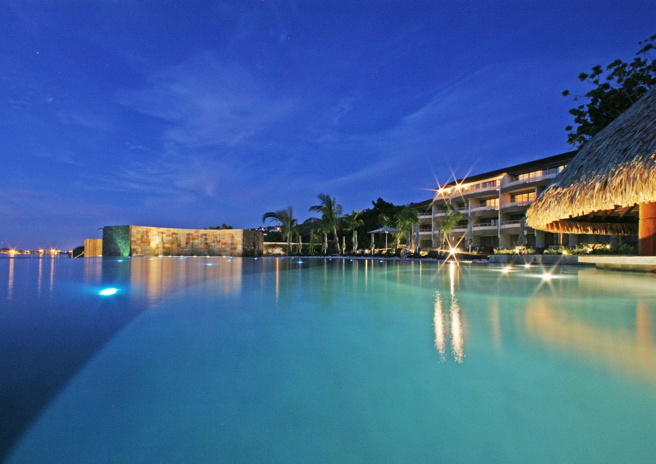 Giant Infinity Pool Manava Resort Tahiti
