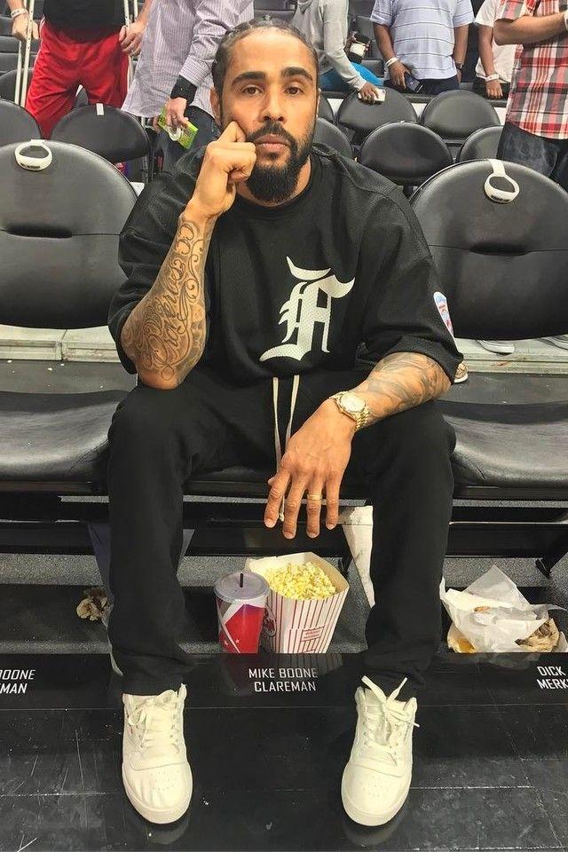 Jerry Lorenzo wearing Adidas Yeezy Powerhouse Sneakers, Fear