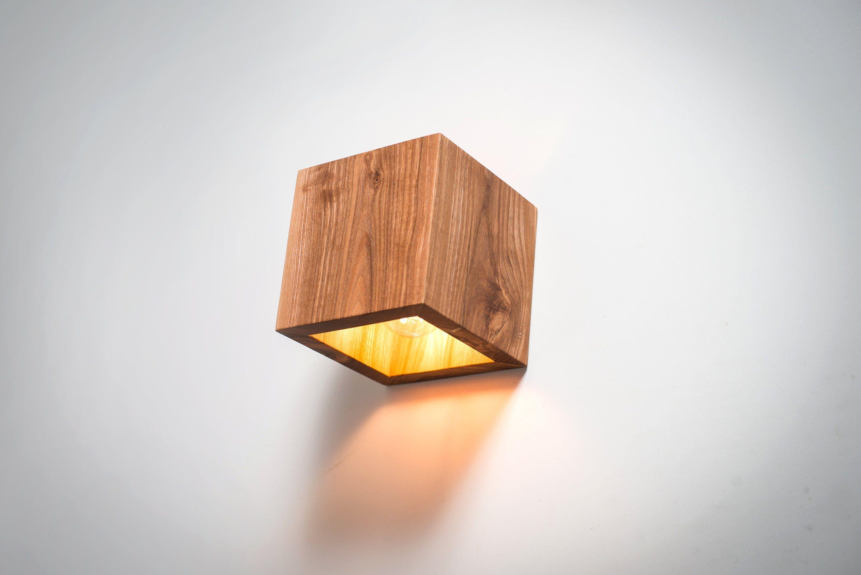 Wood Lamp Q 326 Handmade Wall Lamp Wooden Lamp Sconce Wall