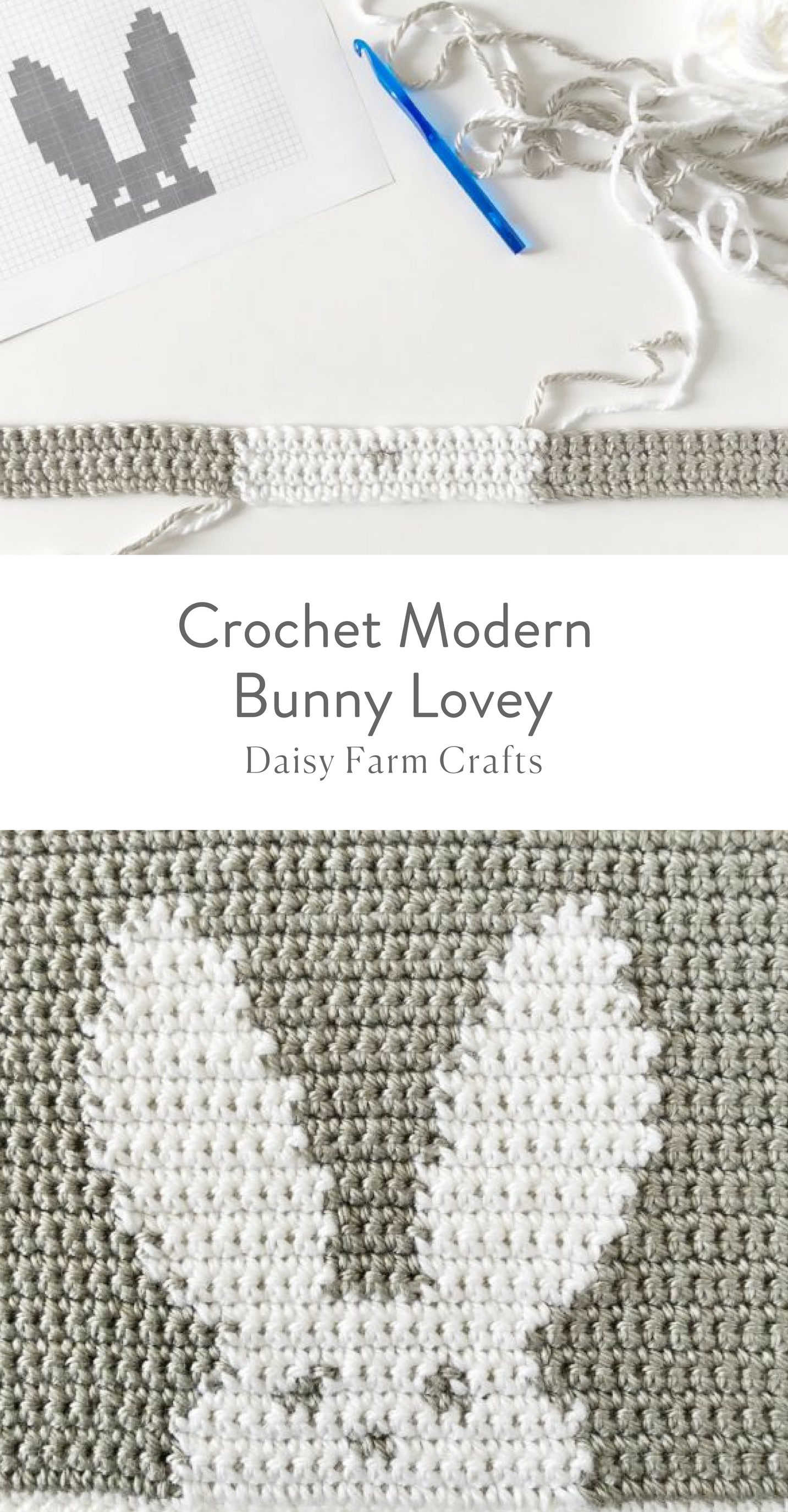 Free Pattern - Crochet Modern Bunny Lovey Blanket | crafts ...
