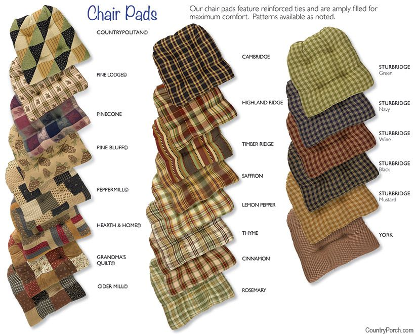 The Country Porch Features Country Themed Tufted Chair Pads With Ties For  Home Kitchen And Dining Room Decorating.