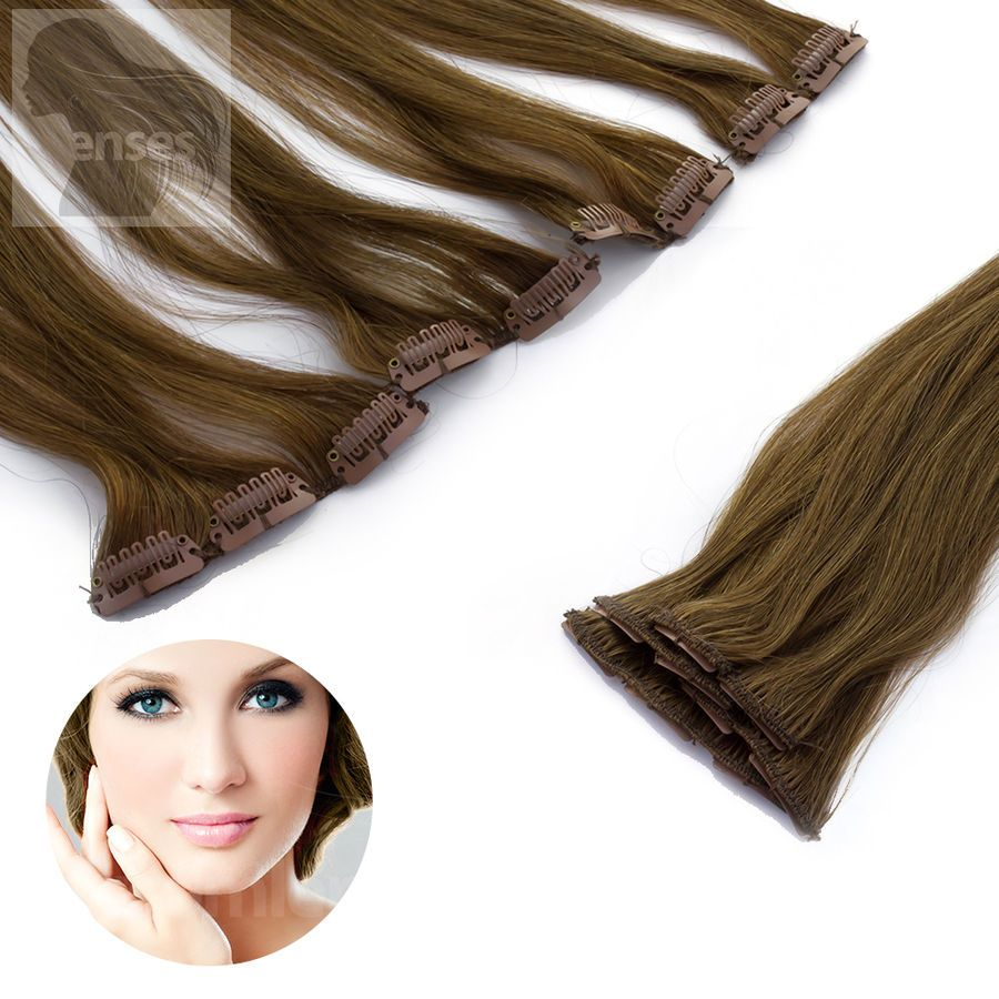 Clip In Extensions Clip On Haarteile 45 Cm 60 Cm Indisches Remy 100