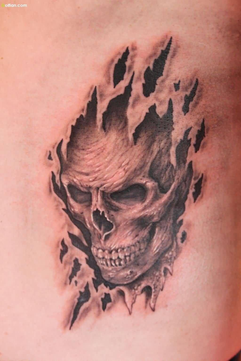 896011e08 Most Amazing 3d Ripped Skin Tattoos Best 3d Torn Skin Tattoo Designs ...