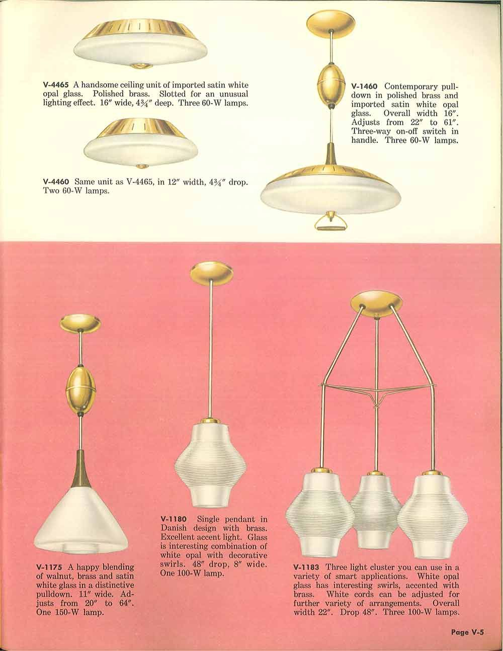 Vintage Virden Lighting 52 Page Catalog From 1959 Kitchen Lighting Fixtures Ceiling Kitchen Ceiling Lights Mid Century Modern Lamp Types of light fixtures in the ceiling
