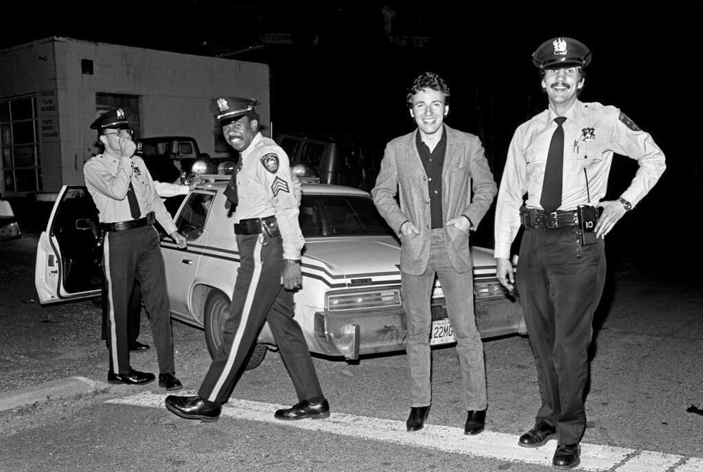 Springsteen getting pulled over by the boys in blue