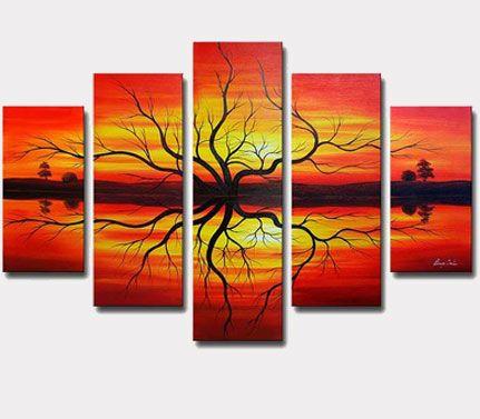 Resultado de imagen para cuadros colores calidos abstractos | IDEAS ...