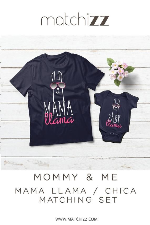 e94a48a0 Mama Llama Chica Llama Mommy and Me Outfits Mother Daughter Matching Shirts  Baby Girl Clothes Gift