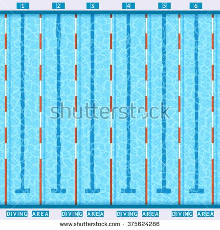 olympic swimming pool deep bath lanes top view flat pictogram with - Olympic Swimming Pool Lanes
