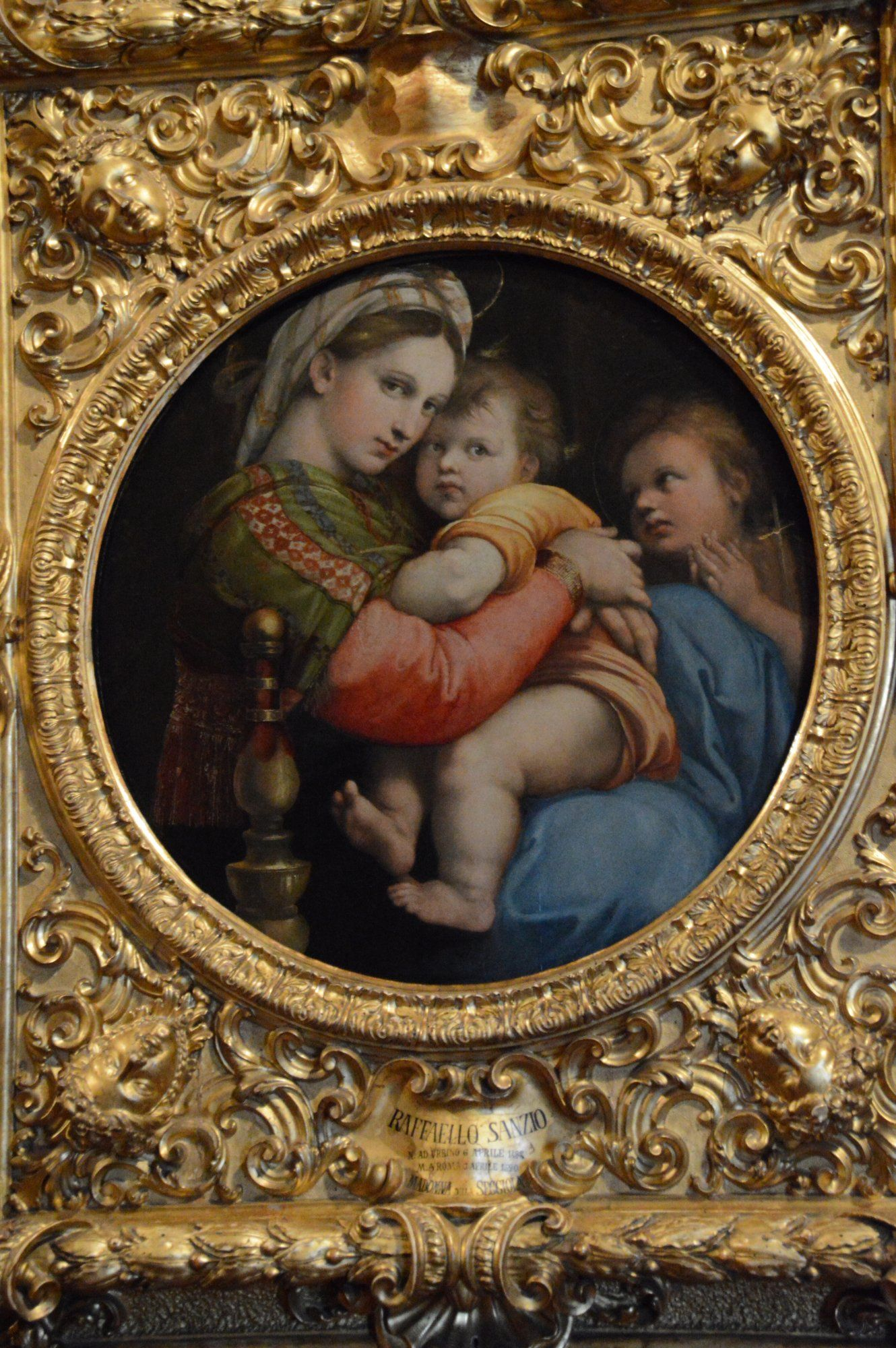 Madonna Of The Chair Fishing Ladder Raffaello Sanzio Della Sedia