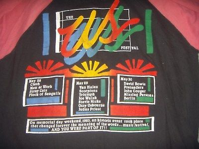 9bd869ed8 ORIGINAL 1983 THE US FESTIVAL CONCERT T-Shirt | 82 & 83 US Festival ...