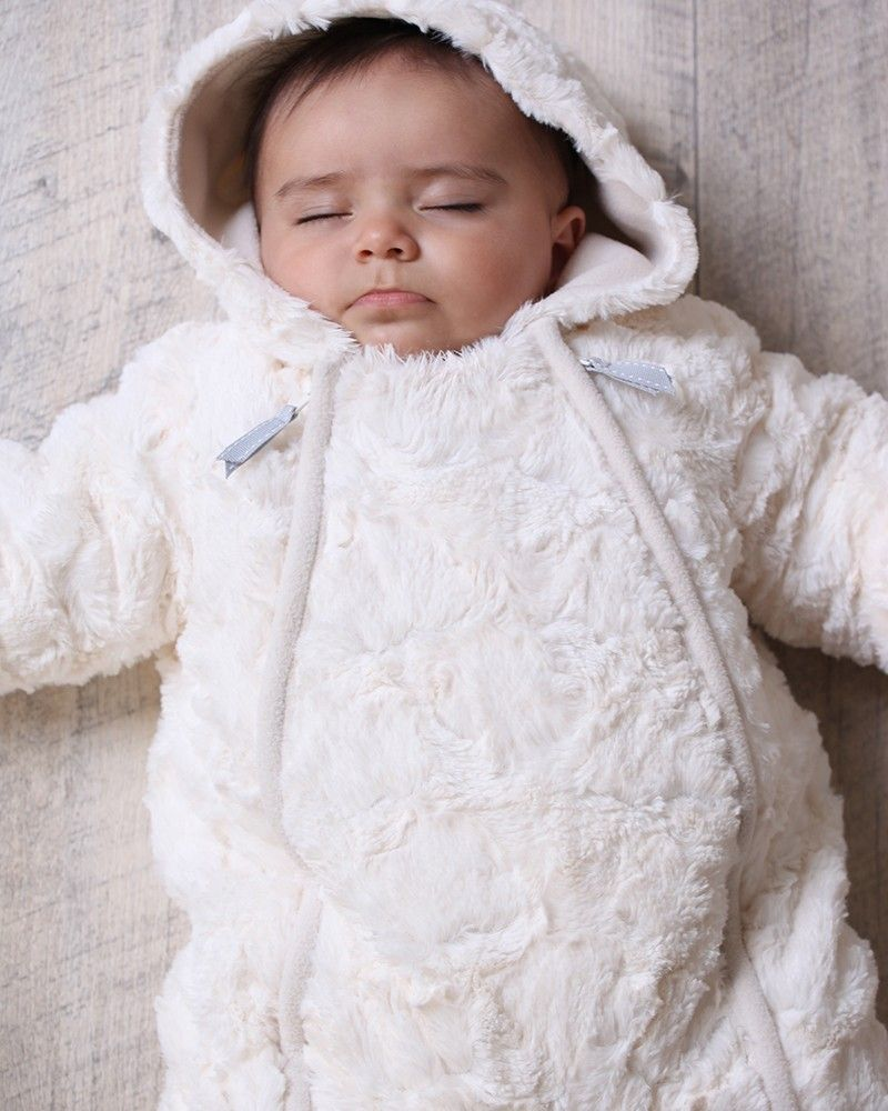 c48ce7e9c Luxury Baby Unisex Fur Snowsuit