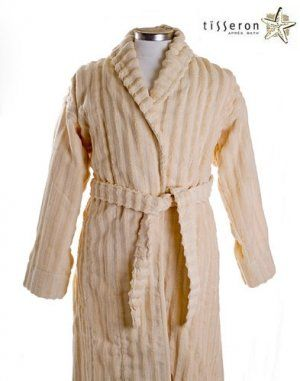 3bac9609f2  135 - Imagine being wrapped in this cozy French Vanilla men s robe ...