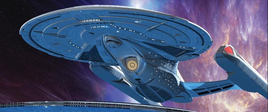 Star Trek First Look Worf Leads A Headlong Flight New Star Trek Scotty Star Trek Star Trek Models