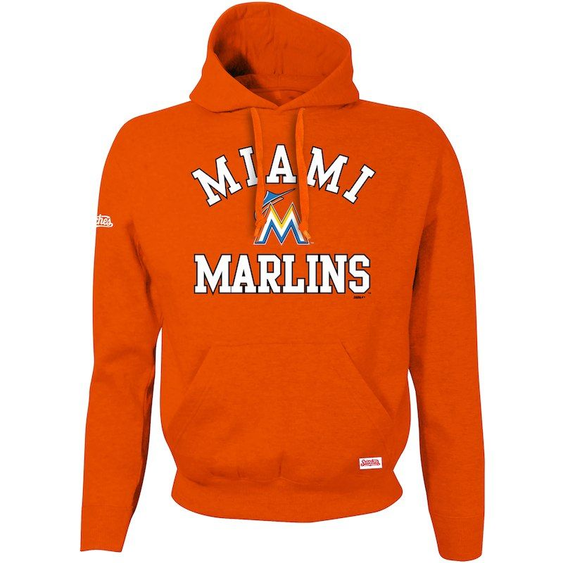the best attitude 4aabd cf144 Miami Marlins Stitches Youth Fleece Pullover Hoodie – Orange ...
