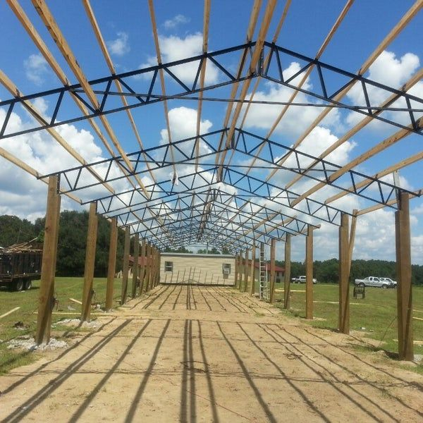 Farm in Blountstown, FL (With images)   Steel trusses ...