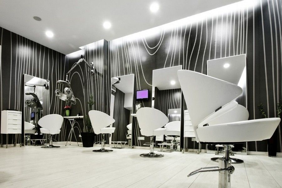 Decorating, Unique Hair Salon With Wall Art Ideas: Modern Hair Salon  Interior Design Ideas