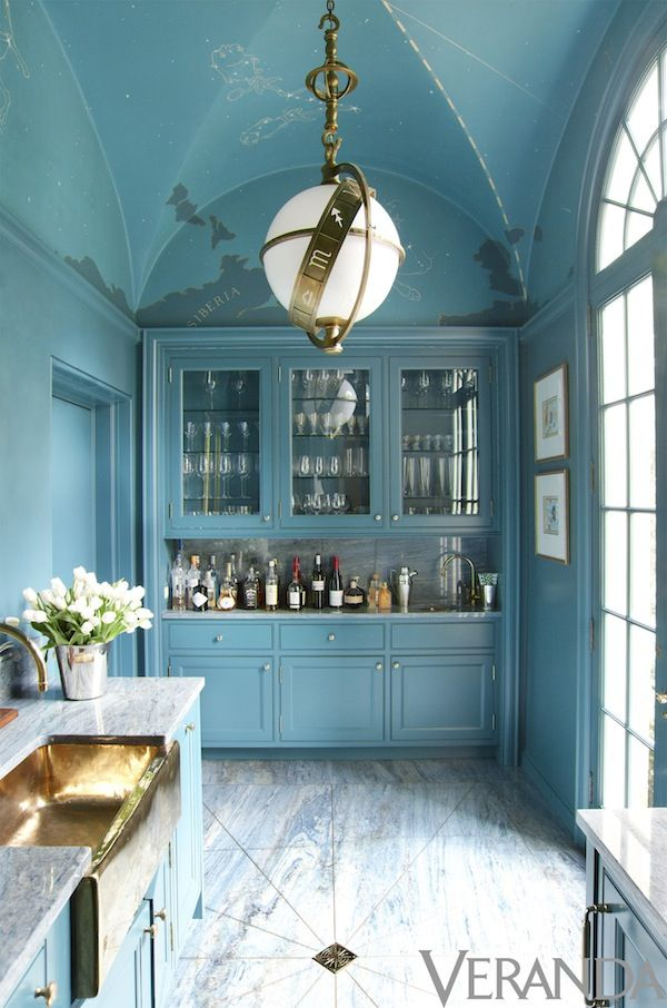 Astrology And Glamour Blue Room Inspiration Beautiful Kitchens
