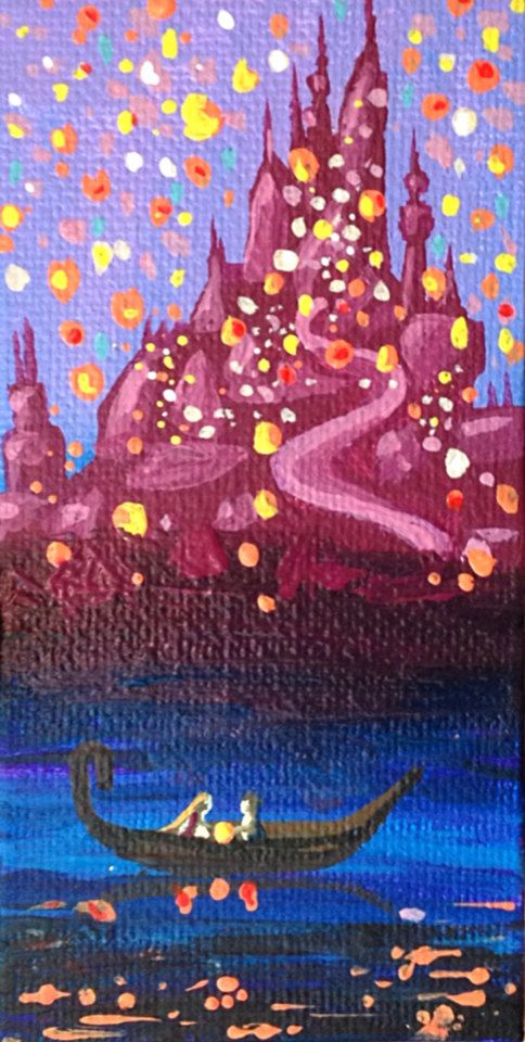 Lanterns Tangled Disney Paintings Disney Tangled Disney Art